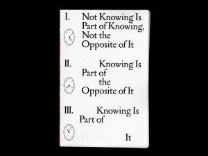 Not Knowing, OOIEE, Ben Schwartz