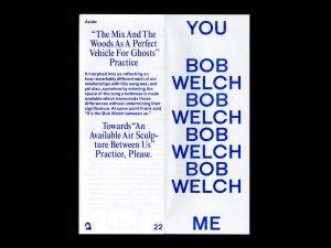 Bob Welch Between Us, Walker Art Center, Ben Schwartz, Frank Lyon, OOIEE